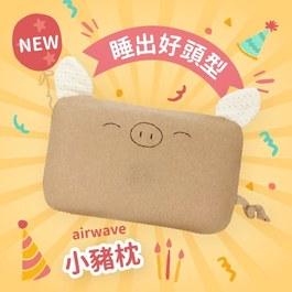 六月超值優惠【單枕套組】cani airwave護頭枕(小豬款)
