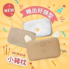 三月限時團購組【雙枕套組】airwave護頭枕(小豬款)