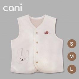 cani有機棉 暖暖雙面背心(小兔)