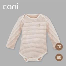 cani有機棉包屁衣-三色條紋(長袖)