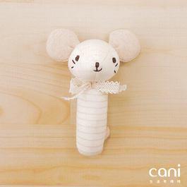cani有機棉 小鼠棒型手搖鈴