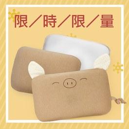 ✦ 【雙枕套組】 airwave護頭枕(小豬款)