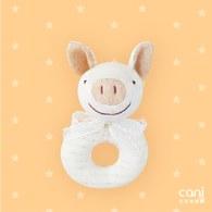 cani有機棉 小豬環型手搖鈴
