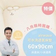 ✦八月團購優惠組✦air wave水洗床墊 60x90x5cm ✦單床包超值組✦