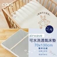 ✦8月限定✦二代air wave水洗床墊 70x130x5cm ✦雙床包超值組✦