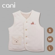 cani有機棉 暖暖雙面背心(小貓)