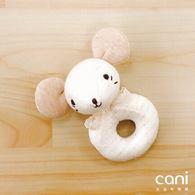 cani有機棉 小鼠環型手搖鈴