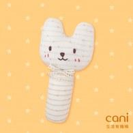 cani小貓有機棉手搖鈴-棒型